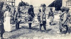 Anonyme 14 - Bataille de la Marne et de L'Ourcq: Neufmontier-les-Meaux (France) devant l'église , Tirrailleurs de la 45eme division Indigène...