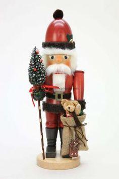 Ulbricht Nussknacker Weihnachtsmann mit Teddy 45cm - VolkskunstShop - Holzkunst Versand aus dem Erzgebirge
