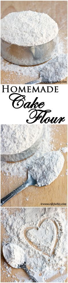 Cake flour is expensive. Learn to make CAKE FLOUR at home with just 2 ingredients! From cakewhiz.com  1 cup all purpose flour 2 T. cornstarch and sift together! ta-da!!