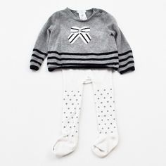 Mini Fashionista | Baby Girl 9-12 Months | Jacadi Sweater with Unknown Tights | 8 Pieces for $59