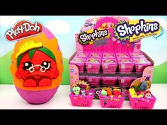SHOPKINS Giant Play Doh Surprise Eggs | Shopkins Blind Bags Shopkins 12 Pack - Awesome Toys TV - YouTube