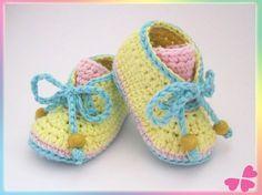 Babyschuhe zum Schüren (Frühchen bis 1 Jahr) - myboshi Wolle