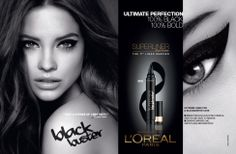 L'Oréal Superliner 2013 Ad Campaign - Kenneth Willardt photographed Barbara Palvin and Doutzen Kroes (and their dramatic eyes!) for L'Oreal Superliner latest ad campaign images! Makeup Art, Beauty Makeup, Tissue Engineering, Beauty Companies, Wilhelmina Models, Dramatic Eyes, Doutzen Kroes, L'oréal Paris, Barbara Palvin