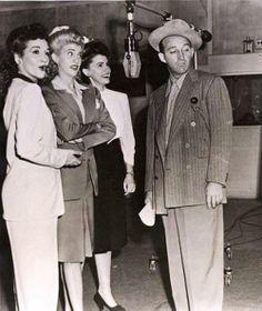 The Andrews Sisters drop by Bing Crosby's Kraft Music Hall, Jan 25, 1945 ~