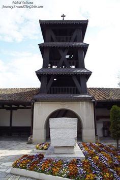 Sarcophagus of Macedonian Hero Goce Delchev in the courtyard of Church of St. Saviour in Skopje, Macedonia