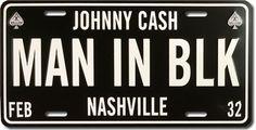 Man in Black License Plate #JohnnyCash #ManinBlack #licenseplate