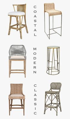 Bar stools and counter stools for every style from Dear Keaton - coastal, rattan, modern and classic bar stools.