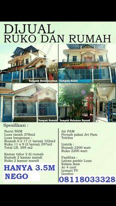 Di jual Ruko berikut dengan Rumah  Di Tangerang  Hubungi 08118033328 Jet, Shopping