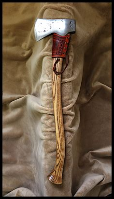 Small Forest Axe with Custom Leather by John Black