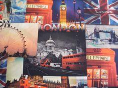 Kinderstoffen digitaal London Engeland 6. | Stoffenhuis Anja, Goedkope Stoffen Online