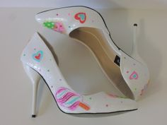 SWEET TOOTH handmade kawaii fairykei high heels pumps with BLING | jazznitup - Clothing on ArtFire