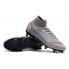 purchase cheap 81f67 dd7a3 Nike High Top Soccer Cleats - Nike Mercurial Superfly VI Elite SG AC Wolf  Grey Pure Platinum Light Crimson - Cheap Sock Football Boots - Soft Ground  - Mens ...