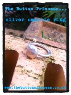 Sterling silver smartie ring.