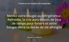 Astuce pour conserver ses bougies plus longtemps