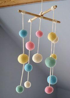 Ganchillo decoración Pastel bebé móvil - colorida bola Mobile(5-color mobile) - niños - Guía de regalos de recién nacido  Hecho por encargo
