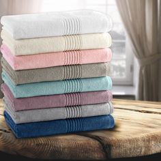 Crafted In Turkey The Cotton Modal Blend 6 Piece Towel Set Is Luxoriously Soft