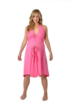731e03a3ed9 Pretty Pushers Cotton Disposable Labor   Delivery Gown (Plus size 18 26 Pre  Pregnancy