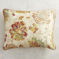 Somerton Floral Natural Standard Pillow Sham