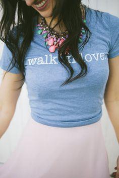 walk in love. // Style // Sunday Best // Summer // walk in love. Women's Original Light Blue // Dress Up // Statement Necklace //