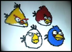 Angry Birds Wall Plaques  Set Of 4. by HamaCreationsByPiggy, £10.00