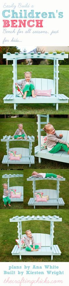 DIY easy build a children's Arbor Bench #diy #woodproject