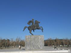 Alexander the Great - Thessaloniki-Macedonia-Greece Macedonia Greece, Alexander The Great, Thessaloniki, Statue Of Liberty, Travel, Liberty Statue, Voyage, Viajes, Traveling