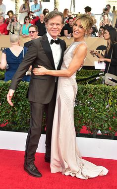 William H. Macy & Felicity Huffman from 2017 SAG Awards: Red Carpet Couples  Wow, this couple's happiness is irresistible!