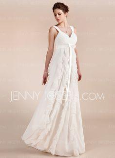 Bröllopsklänningar - $139.99 - Empire Hjärtformad Golvlång Chiffon Bröllopsklänningar med Rufsar (002011682) http://jennyjoseph.com/se/Empire-Hjaertformad-Golvlang-Chiffon-Broellopsklaenningar-Med-Rufsar-002011682-g11682