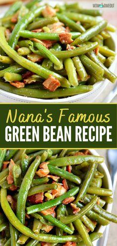 Crockpot Veggies, Crockpot Green Beans, Healthy Green Beans, Green Beans Bacon, Crockpot Side Dishes, Baked Green Beans, Roasted Green Beans, Good Green Bean Recipe, Fresh Green Bean Recipes