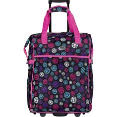 CalPak Big Eazy Bright Check 20-inch Rolling Shopping Tote Bag ** You can get more details by clicking on the image.