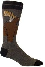 A gun in a holster on charcoal gray socks by Ozone for men.