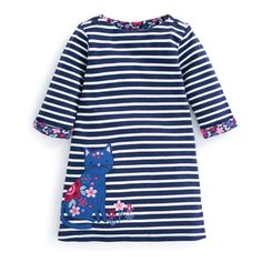 Take a look at this Navy & Cream Cat A-Line Dress - Infant, Toddler & Girls today! Fashion Kids, Womens Fashion, Fashion Edgy, Cream Cat, Toddler Girl Outfits, Kids Girls, Toddler Girls, Cotton, Shirts
