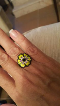 Beaded Rings, Beaded Lace, Beaded Jewelry, Peyote Patterns, Beading Patterns, Seed Bead Projects, Ring Tutorial, Handmade Rings, Seed Beads