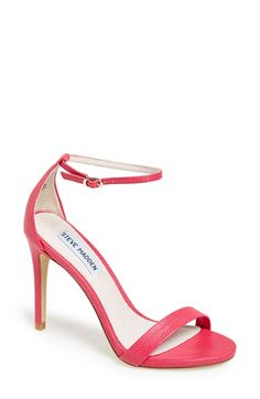 "Steve Madden 'Stecy' Sandal....$79.95 I love the ""blush patent"" (nude) color but this is the ""pink lizard"" available at #Nordstrom"