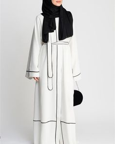 Have you seen Feradje new Abaya collection? Check all new arrivals at www.hazanah.com, link in bio Islamic Fashion, Muslim Fashion, Modest Fashion, Fashion Outfits, Muslim Dress, Hijab Dress, Hijab Outfit, Abaya Noir, Mode Abaya