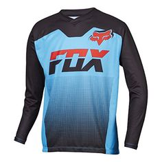 Fox Racing Ranger Jersey  LongSleeve  Boys Cyan L * Click image for more details. (Note:Amazon affiliate link)