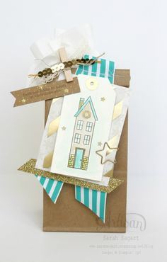 I am LOVING these Petite Café Bags!  They are perfect for holiday treats. ~ Sarah Sagert