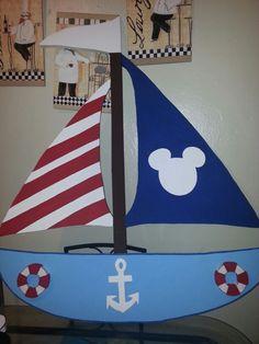 Mickey  nautical boat in foam