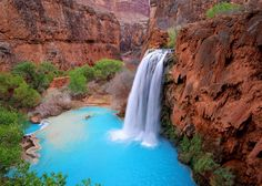 Havasu Falls in the Grand Canyon located in Arizona. Another must visit!