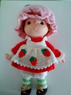 Strawberry shortcake crochet doll