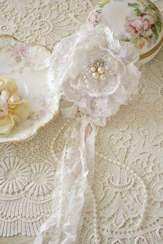 Beautiful White Lace Gillyflower by Jennelise by Jenneliserose