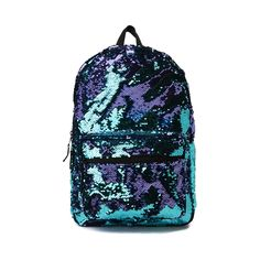 Two-Tone Sequin Backpack Versace Backpack, Sequin Backpack, Mini Backpack, Journeys Kidz, Boys Backpacks, Baggage, School Bags, Fashion Handbags, Handbag Accessories