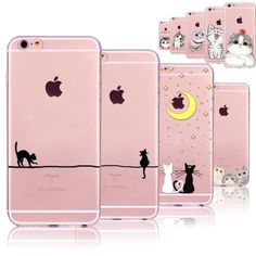 New! Funny Cats Cases For iphone 6 6S 7 7PLUS 5 5S SE 5C 6PLUS 6SPlus 4 4S Clear Ultrathin TPU Cover Coque For iphone 6 Case