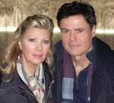 Donny & Debbie pose in front of the 9/11 memorial in NYC for New Years 2015.