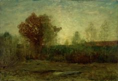 """Autumn Evening,"" Dwight William Tryon, oil on panel, 32 x 45"", Smith College Museum of Art."