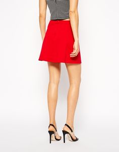 Enlarge ASOS A-Line Skirt in Ponte