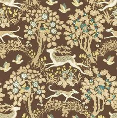 Lee Jofa Fabric 970089.613 Mille Fleur Sable