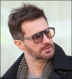 Was the gray added to his hair or?? Richard Armitage on the NYC shoot for Oceans 8