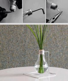 Very cool  -- make hanging planters or vases from old lightbulbs