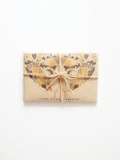 Little Flower Peacocks  Greeting Card SET - Holiday Cards - Greeting Card Set - Christmas - Anniversary - Graduation Kraft Envelope by dekanimal, $13.00